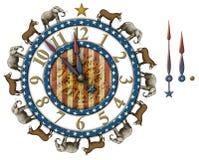 Reloj de la cuenta descendiente de la elección Foto de archivo libre de regalías