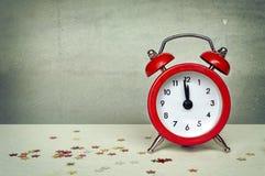 Reloj de la cuenta descendiente de la Navidad y del Año Nuevo Imagen de archivo