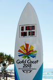 Reloj de la cuenta descendiente de los juegos de la Commonwealth, Gold Coast fotografía de archivo libre de regalías