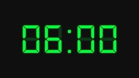 Reloj de la cuenta descendiente, verde