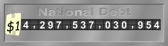 Reloj de la deuda nacional Fotos de archivo
