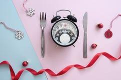 Reloj de la dieta de enero fotografía de archivo libre de regalías