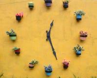 Reloj de la flor Imagenes de archivo