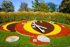 Reloj de la flor en Ginebra, Suiza Imágenes de archivo libres de regalías