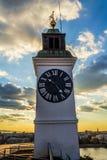 Reloj de la fortaleza de Varadin Imágenes de archivo libres de regalías