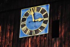 Reloj de la iglesia Fotos de archivo