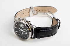Reloj de la mano aislado Foto de archivo libre de regalías