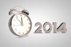 Reloj 2014 de la Navidad stock de ilustración
