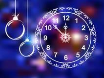 Reloj de la Navidad Fotos de archivo libres de regalías