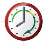 Reloj de la oficina Imagenes de archivo
