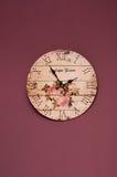 Reloj de la púrpura de la vendimia Imágenes de archivo libres de regalías