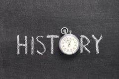 Reloj de la palabra de la historia fotografía de archivo