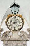 Reloj de la pared del renacimiento Foto de archivo libre de regalías