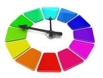 Reloj de la rueda de color ilustración del vector
