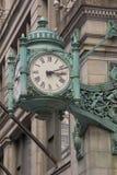 Reloj de la señal de Chicago adentro Imagen de archivo