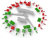 Reloj de la semana del trabajo. Hora laborable 8x5. Fotos de archivo
