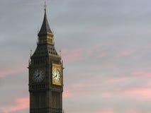 Reloj de la torre de Londres ben grande Imagen de archivo