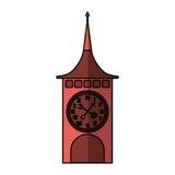 Reloj de la torre Suiza stock de ilustración