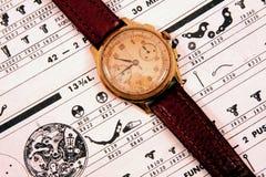 Reloj de la vendimia Fotos de archivo