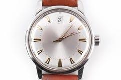 Reloj de la vendimia de Brown Foto de archivo libre de regalías