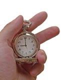 Reloj de la vendimia en el brazo Foto de archivo libre de regalías