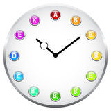 Reloj de la vitamina Fotos de archivo