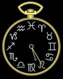Zodiaco Leo Clock fotografía de archivo