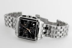 Reloj de los hombres elegantes Fotografía de archivo
