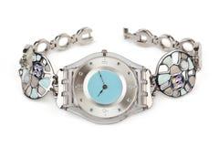 Reloj de lujo de la mujer Fotografía de archivo