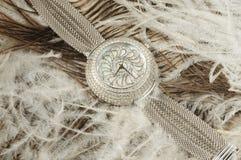 Reloj de lujo de la mujer Imágenes de archivo libres de regalías