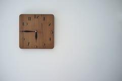 Reloj de madera Imagen de archivo
