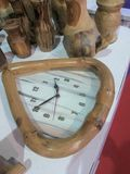 Reloj de madera Imágenes de archivo libres de regalías