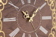Reloj de madera Fotos de archivo libres de regalías