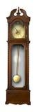 reloj de madera de la Viejo-manera con el péndulo Imagenes de archivo