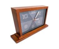 Reloj de madera del art déco Fotografía de archivo libre de regalías