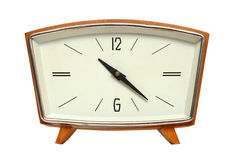 Reloj de madera viejo Imágenes de archivo libres de regalías