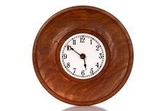 Reloj de madera viejo Fotografía de archivo libre de regalías