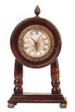 Reloj de madera viejo. Foto de archivo