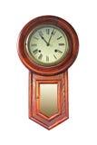 Reloj de madera viejo Imagenes de archivo