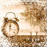 Reloj de Navidad de la Navidad del Año Nuevo Fotografía de archivo libre de regalías