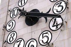 Reloj de neón del edificio Imagen de archivo