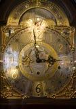 Reloj de oro Foto de archivo libre de regalías