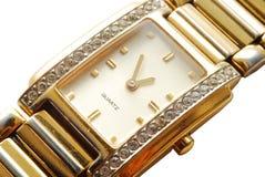 Reloj de oro Fotos de archivo libres de regalías