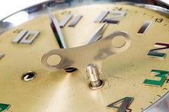 Reloj de oro Imagen de archivo libre de regalías