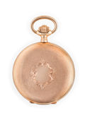 Reloj de oro antiguo foto de archivo