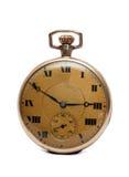 Reloj de oro de la vendimia Imagen de archivo