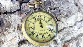 Reloj de oro del bolsillo almacen de video