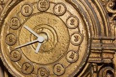 Reloj de oro del vintage Fotografía de archivo libre de regalías