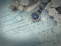 Reloj de oro, femenino Fotos de archivo