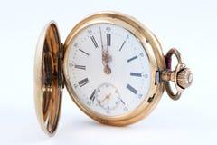 Reloj de oro viejo Fotos de archivo
